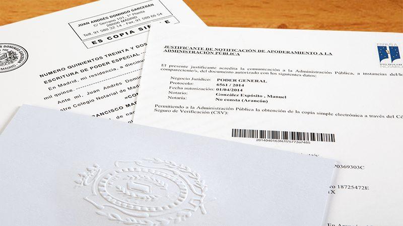 Imagen del poder notarial